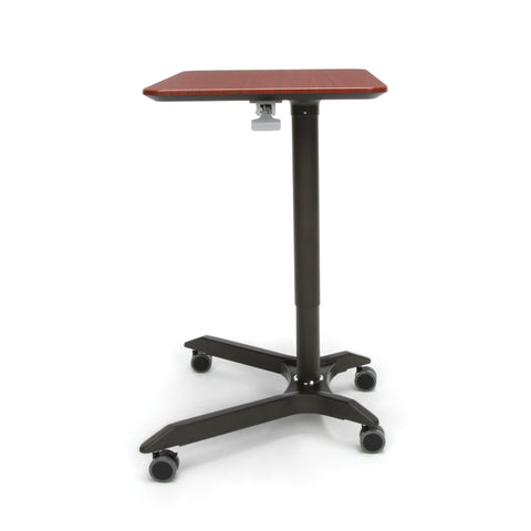 OFM Mesa Series Mobile Standing Desk - Height Adjustable Laptop Table, Workstation, Cherry/Gray (66100-CHY) ; UPC: 845123092835 ; Image 5