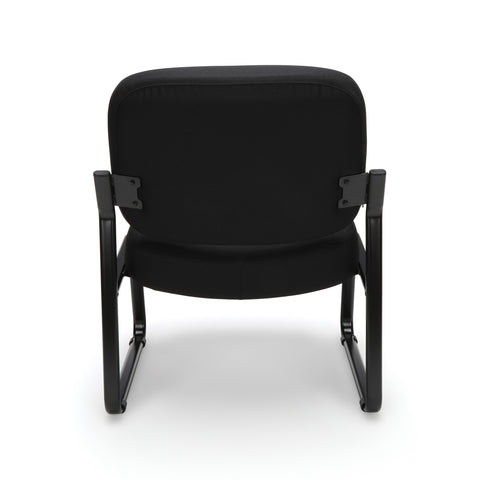 OFM Big and Tall Upholstered Armless Guest/Reception Chair, Black ; UPC: 845123028667 ; Image 3