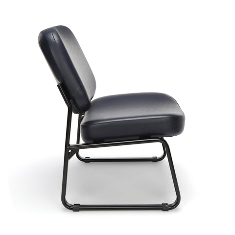 OFM Model 409-VAM Big and Tall Armless Guest and Reception Chair, Anti-Microbial/Anti-Bacterial Vinyl, Navy ; UPC: 845123028698 ; Image 4