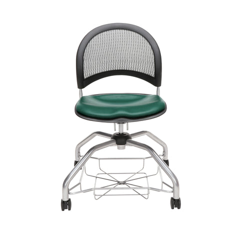 OFM Moon Foresee Series Chair with Removable Vinyl Seat Cushion - Student Chair, Teal (339-VAM) ; UPC: 845123094525 ; Image 2