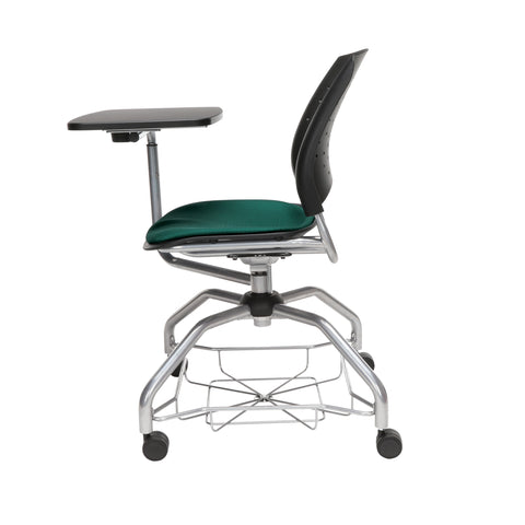 OFM Stars Foresee Series Tablet Chair with Removable Fabric Seat Cushion - Student Desk Chair, Forest Green (329T) ; UPC: 845123094273 ; Image 5