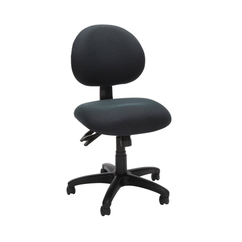 OFM Core Collection 24 Hour Ergonomic Upholstered Armless Task Chair, in Charcoal (241-203) ; UPC: 811588013456 ; Image 1