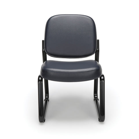 OFM Model 405-VAM Armless Guest and Reception Chair, Anti-Microbial/Anti-Bacterial Vinyl, Navy ; UPC: 811588014354 ; Image 2