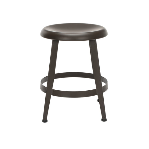"OFM Core Collection Edge Series 18"" Table Height Metal Stool, in Antique Brown (33918M-ABRN) ; UPC: 192767002424 ; Image 3"