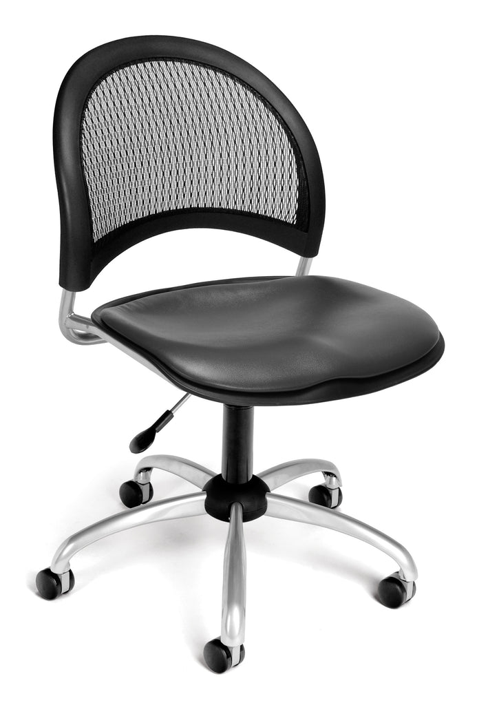 OFM 336-VAM-604 Moon Swivel Chair with Vinyl Seat, Charcoal ; UPC: 845123014639 ; Image 1