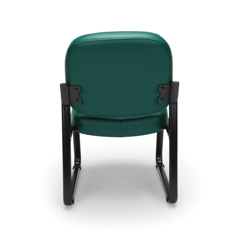 OFM Model 405-VAM Armless Guest and Reception Chair, Anti-Microbial/Anti-Bacterial Vinyl, Teal ; UPC: 811588014323 ; Image 3