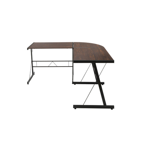 "OFM Essentials Collection 60"" Metal Frame L-Shaped Desk, Corner Computer Desk, in Wenge (ESS-1021 -BLK-WEN) ; UPC: 192767000086 ; Image 5"