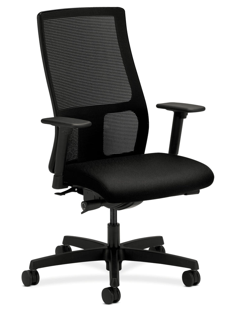HON Ignition Series Mid-Back Work Chair - Mesh Computer Chair for Office Desk, Black (HIWM2) ; UPC: 745123568005 ; Image 1