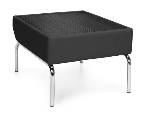 OFM Triumph Series Model 310 Laminate Top Table with Polyurethane Border and Chrome Frame, Black with Tungsten ; UPC: 845123052495 ; Image 1