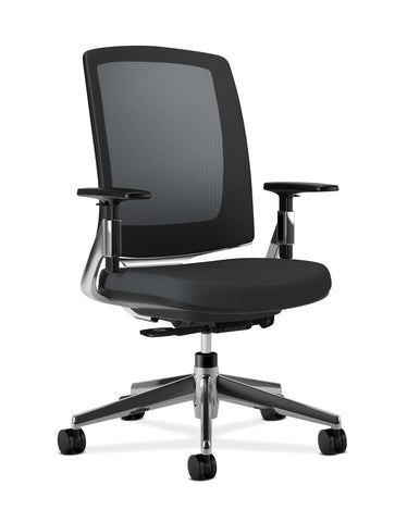 HON Lota Mesh Back Office Chair, in Black (H2283) ; UPC: 881728407872 ; Image 1