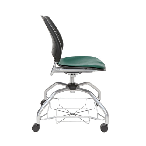 OFM Stars Foresee Series Chair with Removable Vinyl Seat Cushion - Student Chair, Teal (329-VAM) ; UPC: 845123094082 ; Image 4