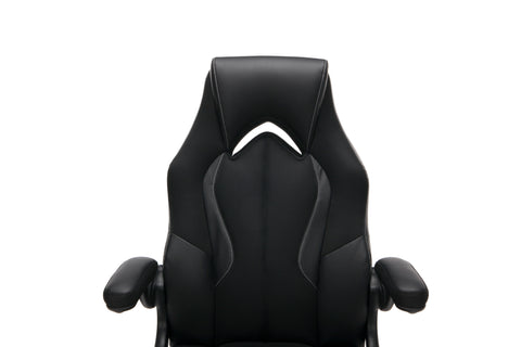 OFM Essentials Collection High-Back Racing Style Bonded Leather Gaming Chair, in Black (ESS-3086-BLK) ; UPC: 192767002554 ; Image 7