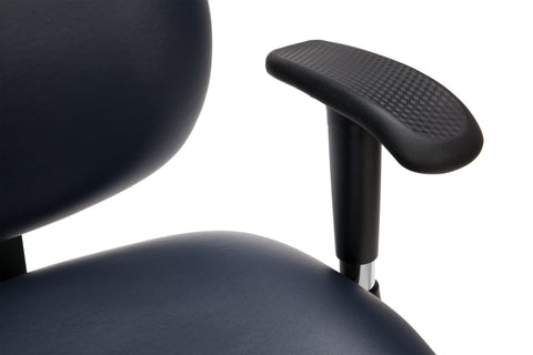 OFM Model 247-VAM 24 Hour Big and Tall Ergonomic Computer Swivel Task Chair with Arms, Anti-Microbial/Anti-Bacterial Vinyl, Navy ; UPC: 811588013043 ; Image 7
