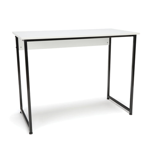 Essentials by OFM ESS-1040 Office/Computer Desk and Workstation with Metal Legs, White with Black Frame ; UPC: 845123095508 ; Image 1