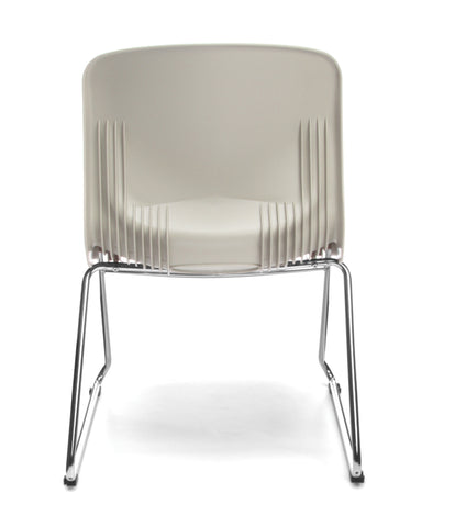 OFM Model 315 Multi-Use Stack Chair, Plastic Seat and Back, Ivory ; UPC: 845123034781 ; Image 3