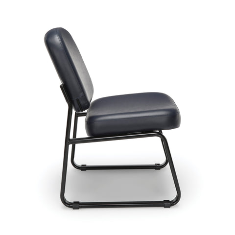 OFM Model 405-VAM Armless Guest and Reception Chair, Anti-Microbial/Anti-Bacterial Vinyl, Navy ; UPC: 811588014354 ; Image 4