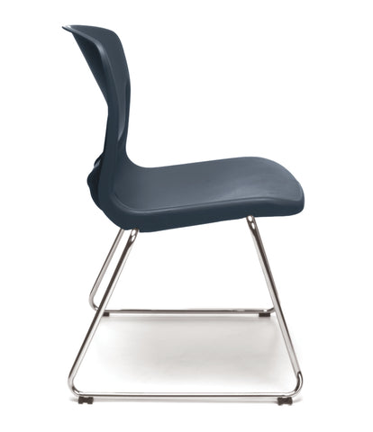 OFM Model 315 Multi-Use Stack Chair, Plastic Seat and Back, Navy ; UPC: 845123034767 ; Image 4