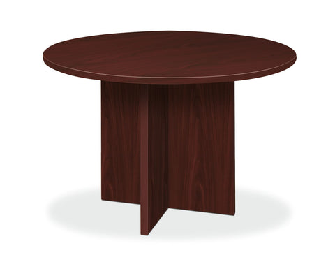 "HON BL Series Office Table, 48"" Round, Mahogany (BSXBLC48D) ; UPC: 089191676058 ; Image 1"