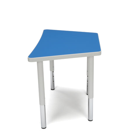 OFM Adapt Series Trapezoid Student Table - 18-26? Height Adjustable Desk, Blue (TRAP-SL) ; UPC: 845123096345 ; Image 5
