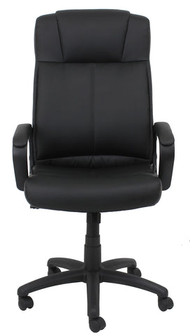 Essentials by OFM ESS-103 High Back Bonded Leather Manager's Chair, Black ; UPC: 845123080108 ; Image 2