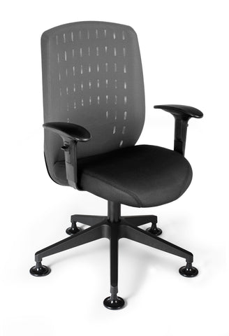 OFM Vision Executive Guest Chair - Mesh Back Conference Chair, Charcoal (655-2702) ; UPC: 845123005859 ; Image 1