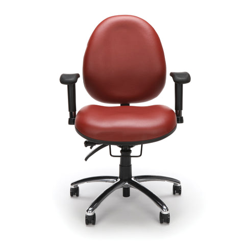 OFM Model 247-VAM 24 Hour Big and Tall Ergonomic Computer Swivel Task Chair with Arms, Anti-Microbial/Anti-Bacterial Vinyl, Wine ; UPC: 811588010295 ; Image 2