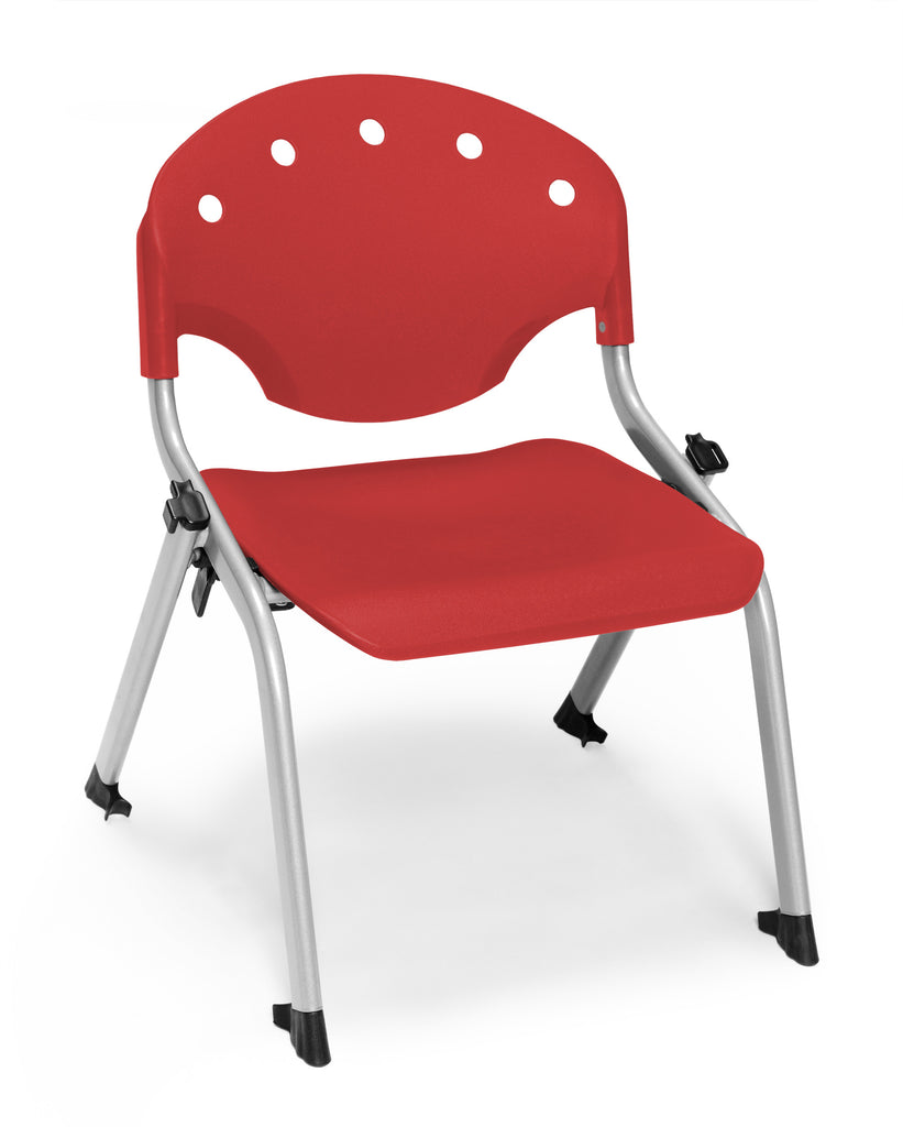 "OFM 305-12-P1 Student Stack Chair, 12"" Height, Red (Pack of 4) ; UPC: 845123022054 ; Image 1"