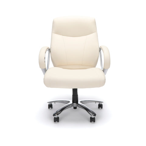 OFM  811-LX Leather Mid-Back Big and Tall Executive Chair, Cream ; UPC: 845123023365 ; Image 2