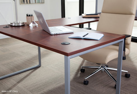 OFM Fulcrum Series 66x30 Desk, Minimalistic Modern Office Desk, Cherry (CL-D6630-CHY) ; UPC: 845123097182 ; Image 7