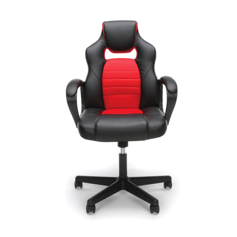 Essentials by OFM ESS-3083 Racing Style Gaming Chair, Red ; UPC: 845123092910 ; Image 2