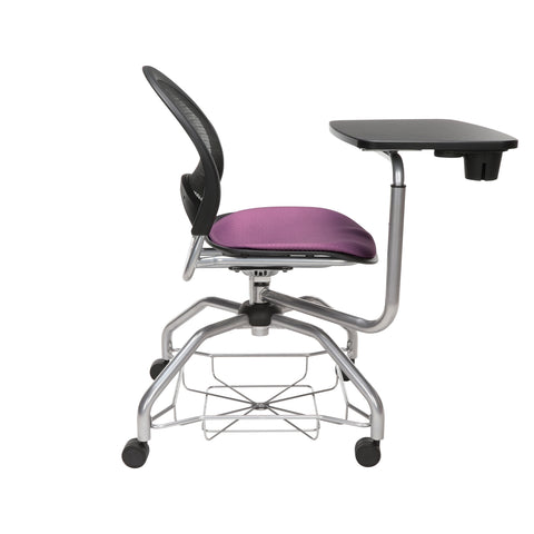 OFM Moon Foresee Series Tablet Chair with Removable Fabric Seat Cushion - Student Desk Chair, Plum (339T) ; UPC: 845123094693 ; Image 4