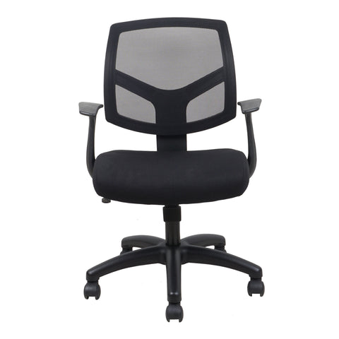 Essentials by OFM ESS-3030 Swivel Mesh Back Task Chair with Arms, Black ; UPC: 089191013549 ; Image 2