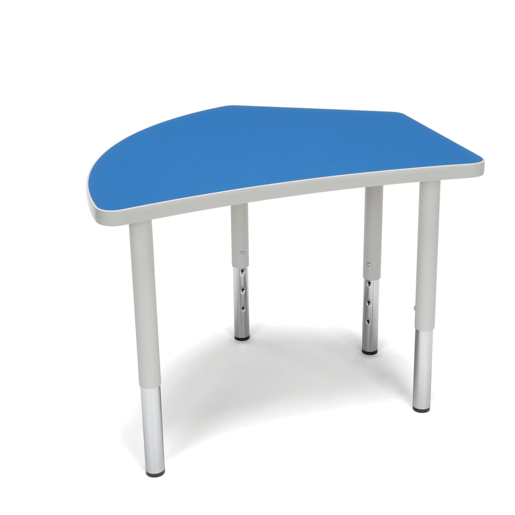 OFM Adapt Series Crescent Student Table - 18-26? Height Adjustable Desk, Blue (CREST-SL) ; UPC: 845123096260 ; Image 1