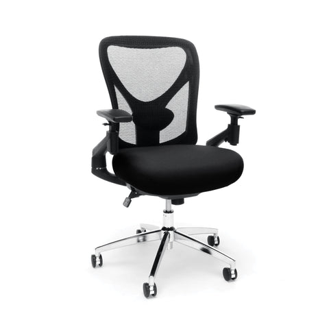 "OFM 257-BLK 24-Hour Big & Tall Mesh Chair, black Office Chair, 36"" Height, 28"" Wide, 27"" Length ; UPC: 845123088852 ; Image 1"