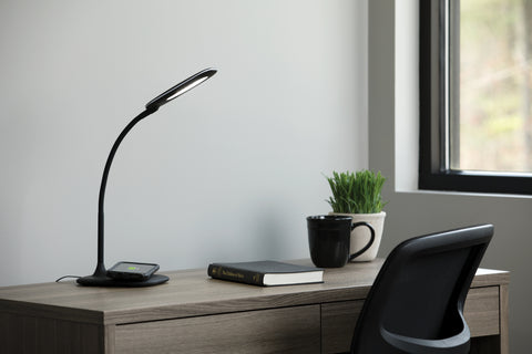 OFM ESS-9004-BLK Essentials LED Desk Lamp with Integrated Wireless Charging Station, Black ; UPC: 192767000628 ; Image 12