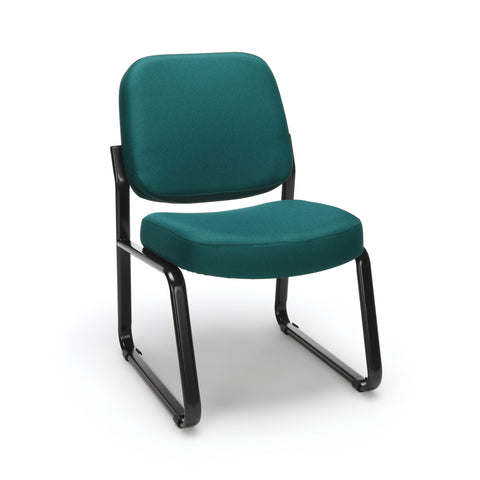 OFM Model 405 Fabric Armless Guest and Reception Chair, Teal ; UPC: 811588014255 ; Image 1