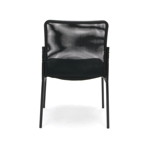 Essentials by OFM ESS-8000 Mesh Back Upholstered Armless Side Chair, Black ; UPC: 845123089385 ; Image 3