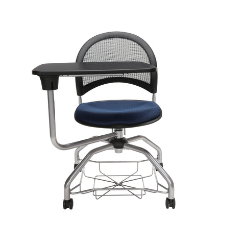 OFM Moon Foresee Series Tablet Chair with Removable Fabric Seat Cushion - Student Desk Chair, Navy (339T) ; UPC: 845123094594 ; Image 2