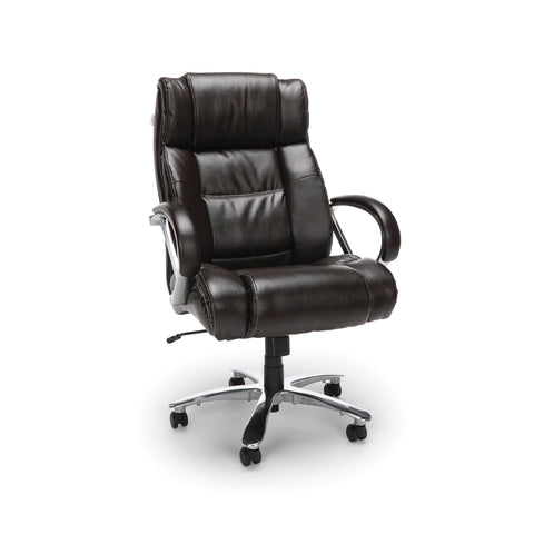 OFM  810-LX Big and Tall Executive High Back Chair, Leather, Brown ; UPC: 845123051849 ; Image 1