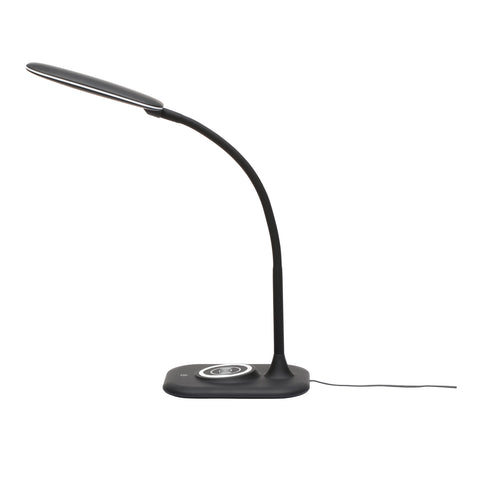OFM ESS-9004-BLK Essentials LED Desk Lamp with Integrated Wireless Charging Station, Black ; UPC: 192767000628 ; Image 5