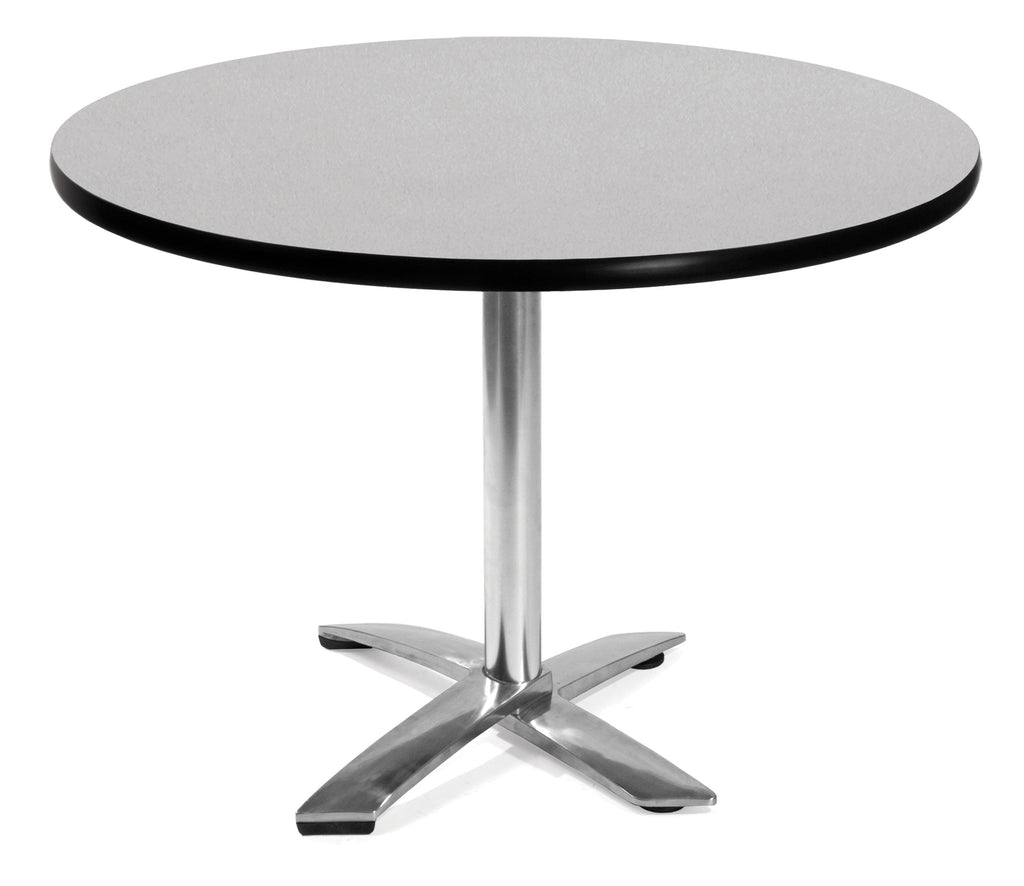 "OFM Model FT42RD 42"" Round Flip-Top Multi-Purpose Table, Gray Nebula ; UPC: 811588010080 ; Image 1"