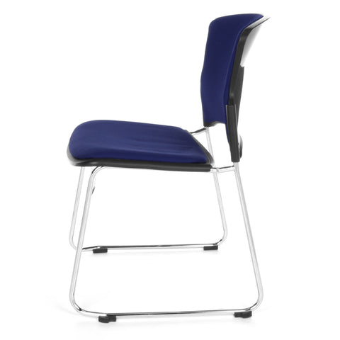 OFM Multi-Use Stack Chair with Fabric Seat, Navy ; UPC: 811588013845 ; Image 5