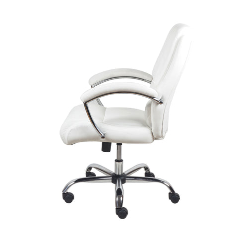Essentials by OFM ESS-6070 Ergonomic High-Back Bonded Leather Executive Chair, White with Chrome Finish ; UPC: 089191014034 ; Image 5