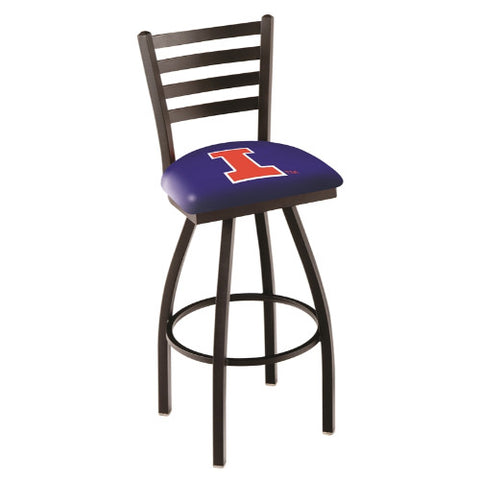 "25"" Black Wrinkle Illinois Swivel Bar Stool with Ladder Style Back by Holland Bar Stool Co.; UPC: 071235001247"