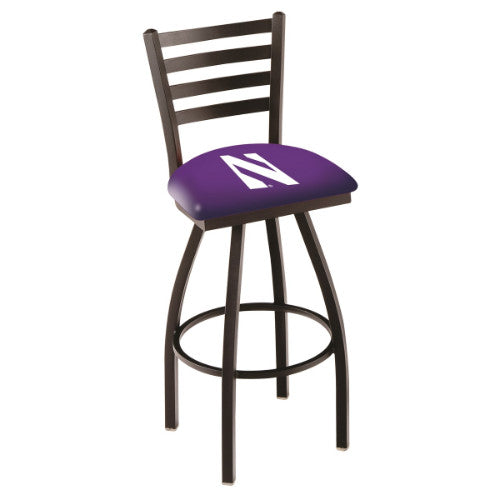 "25"" Black Wrinkle Northwestern Swivel Bar Stool with Ladder Style Back by Holland Bar Stool Co.; UPC: 071235000622"