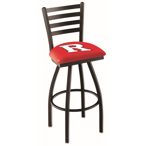 "30"" Black Wrinkle Rutgers Swivel Bar Stool with Ladder Style Back by Holland Bar Stool Co.; UPC: 071235000837"
