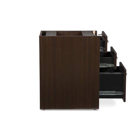 OFM Fulcrum Series Locking Pedestal, 3-Drawer Filing Cabinet, Espresso (CL-BBF-ESP) ; UPC: 845123097441 ; Image 7