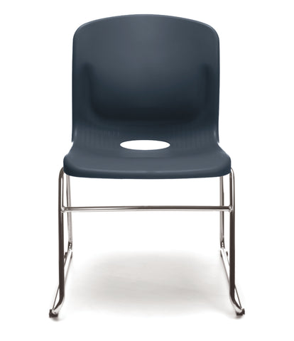 OFM Model 315 Multi-Use Stack Chair, Plastic Seat and Back, Navy ; UPC: 845123034767 ; Image 2