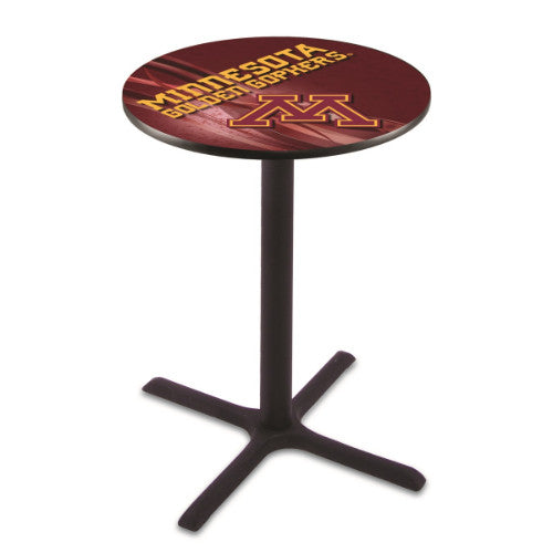 "36"" Black Wrinkle Minnesota Pub Table (Design 2) with 36"" Dia Top; UPC: 071235846930"