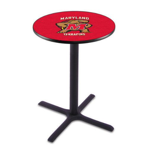 "42"" Black Wrinkle Maryland Pub Table with 36"" Dia Top by HBS ; UPC: 071235026899"